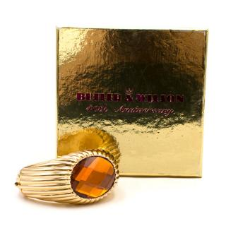 Butler and Wilson Gold-tone Large Crystal Cuff Bracelet