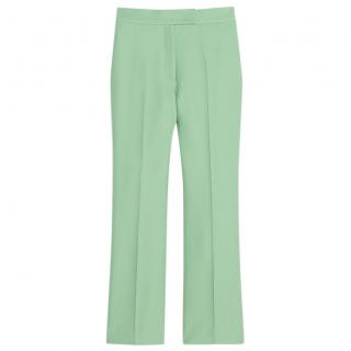 Sandro Mint Green Tailored 7/8 Trousers