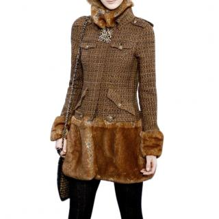 Chanel AW10 Tweed & Fantasy Faux Fur Short Coat New