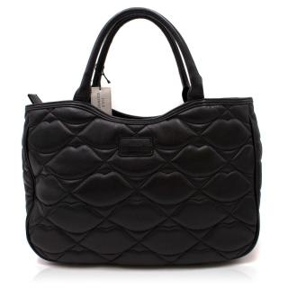 Lulu Guinness Quilted Lip Leather Handbag