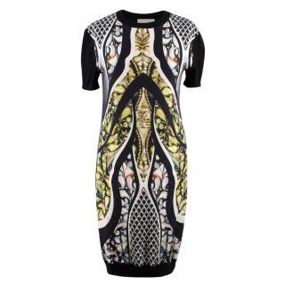 Peter Pilotto Black Abstract Print T Shirt Dress