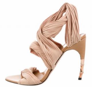 Gucci Nude Bandage Heeled Sandals