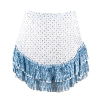 Roberto Cavalli Silk Ruffled Miniskirt