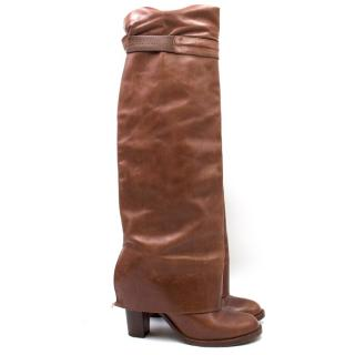 Veronique Branquinho Knee-high Heeled Foldover Boots