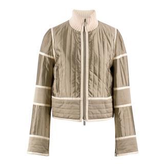 Celine Olive Silk-blend Jacket