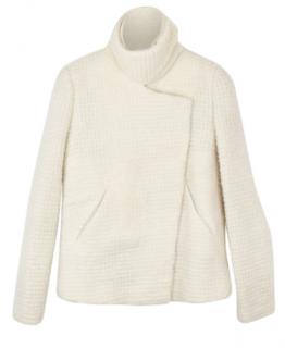 Iro asymmetric cropped mohair blend jacket