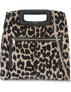 Maje leopard print shoulder bag