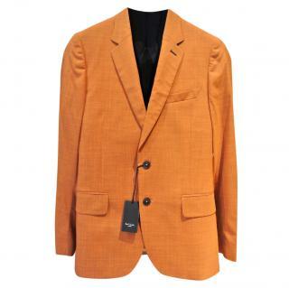 Paul Smith London Soho Slim-fit Orange Crosshatch Blazer