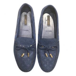 Louis Vuitton Blue Monogram Loafers