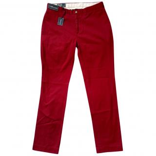 POLO by Ralph Lauren NWT Red Preppy Pants, size 34