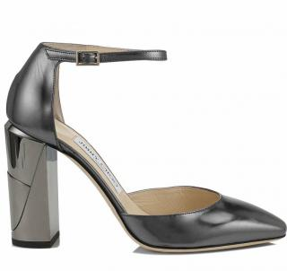Jimmy Choo Mabel 95 Anthracite Sandals