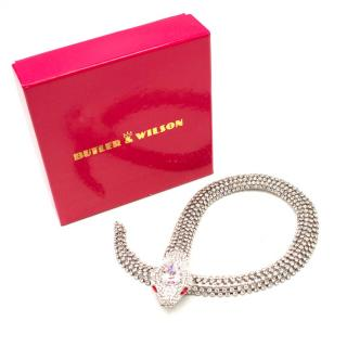 Butler and Wilson Crystal Snake Necklace