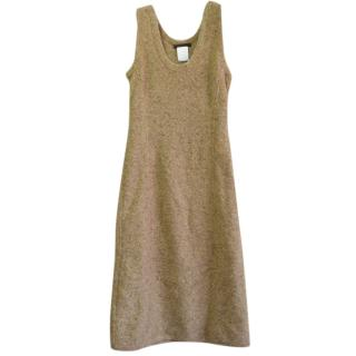 Narciso Rodriguez 100% cashmere sleeveless knit dress