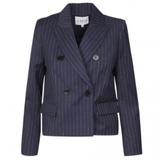 Claudie Pierlot Vino Blue Pinstripe Blazer