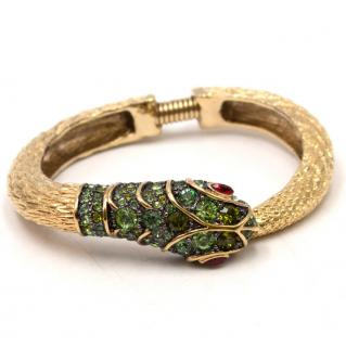 Kenneth Jay Lane Crystal Encrusted Snake Bracelet