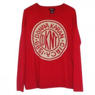 DKNY ' Donna Karan' Red Jumper