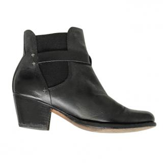 Rag and Bone Block Heeled Ankle Boots
