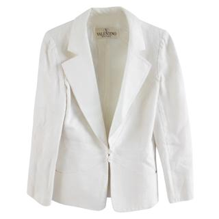 Valentino Boutique Linen White Jacket