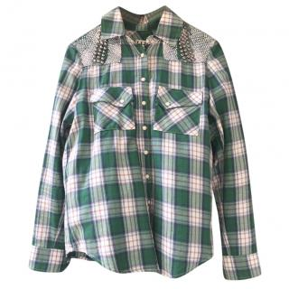 Haute Hippie Plaid Studded Shirt