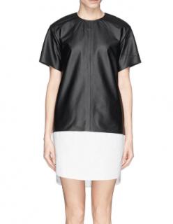 T by Alexander Wang Colour Block Lamb Leather Dress