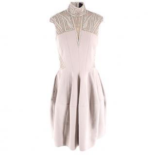 Amanda Wakeley High Neck Embellished Mini Dress