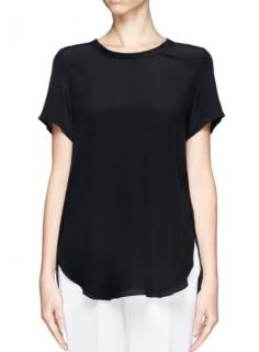 3.1 Phillip Lim silk black high-low Top