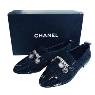 a72773c01766 Chanel Patent   Tweed Lucky Charms Shoes