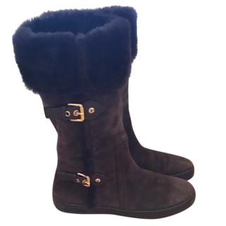 Louis Vuitton shearling fur boots