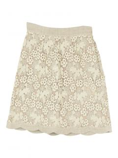Valentino floral lace knee length skirt
