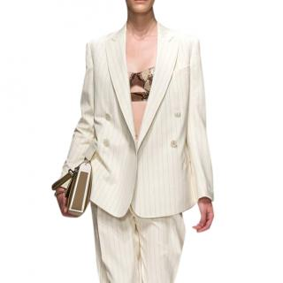 Savlatore Ferragamo cream wool blazer