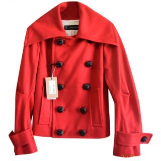 Dsquared2 red double breasted wool  jacket