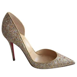 Christian Louboutin glitter d'orsay pumps