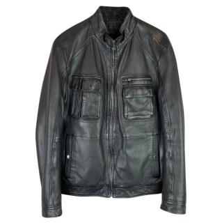 Boss Hugo Boss Mainline Leather biker Jacket