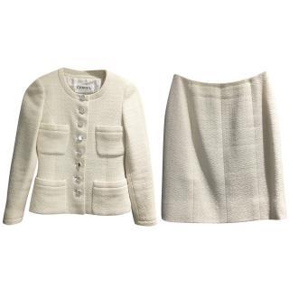 Chanel Cream Wool Tweed Suit