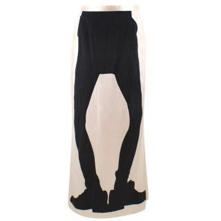 Moschino Cheap & Chic Leg Printed Skirt