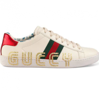 Gucci Men's Guccy Print Ace Sneakers