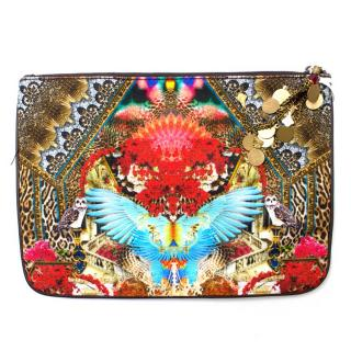 Camilla Abstract Printed Canvas Pouch