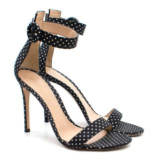 Gianvito Rossi Polka Dot Print Heeled Sandals