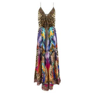 Camilla Abstract Print Wrap Maxi Dress