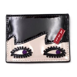 Lulu Guinness Doll Face Card Holder