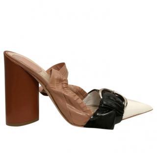 Christian Dior patent vinyl sandals