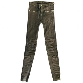 BLK DNM Leather Biker Trousers