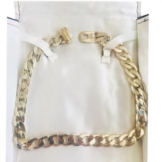 Tiffany silver curb chain necklace
