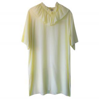Marni ruffled yellow dress