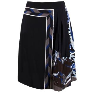 Emilio Pucci Silk-blend Pleated Abstract Printed Skirt