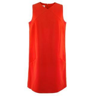 La Mania Red Shift Dress