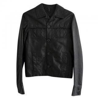 Dior Homme Black Leather Jacket