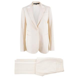 Theory Cream Wool-blend Suit