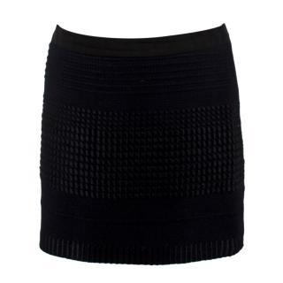 Stella McCartney Black Knit Miniskirt