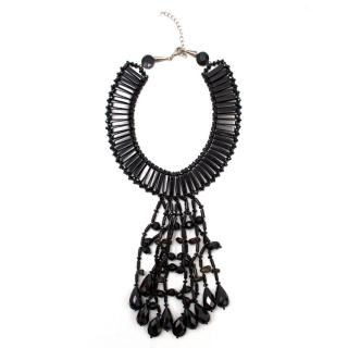 Butler & Wilson Black Beaded Jet Collar Necklace